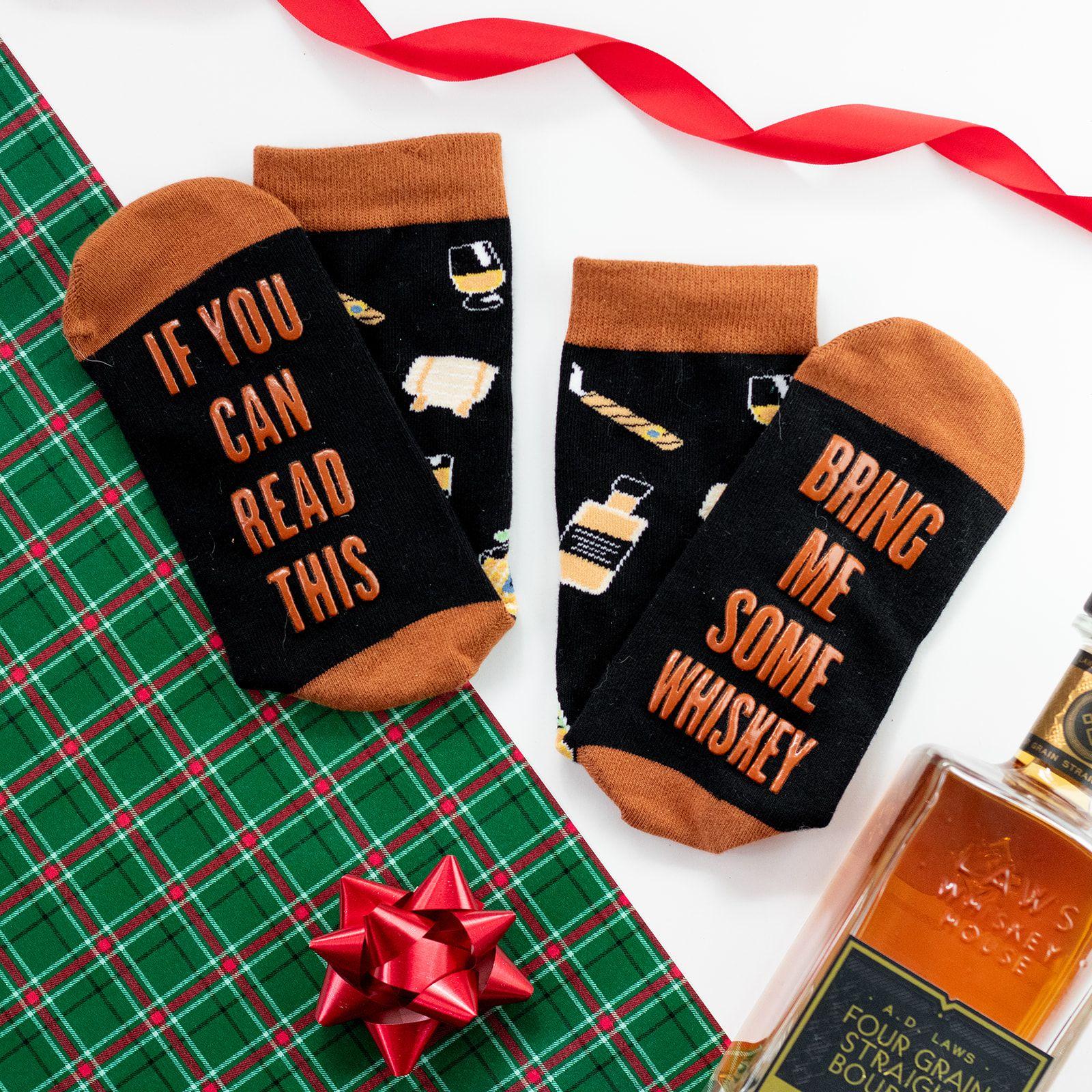 mens funny novelty whiskey socks