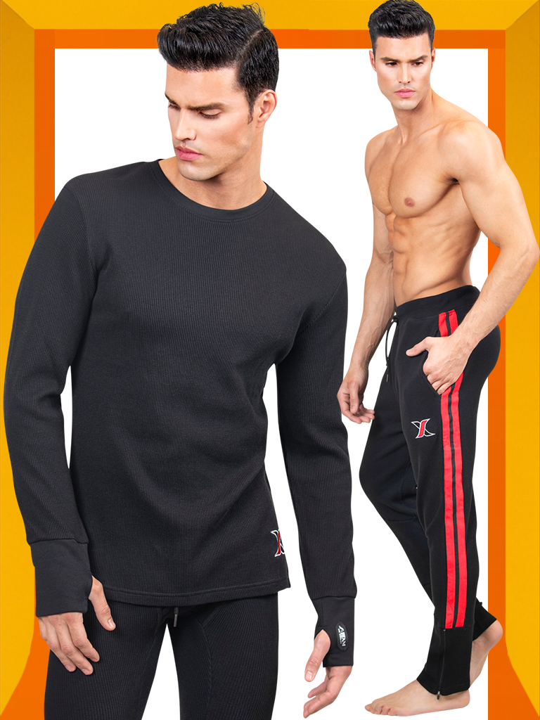 https://www.leoricci.com/products/mens-black-waffle-crewneck-long-sleeve-thermal-tshirt-with-joggers-trackpants