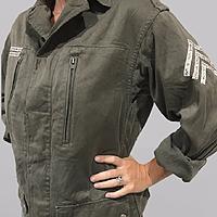 Vintage Military Jacket - Floral Stripes