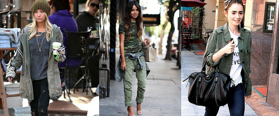Military Style Celebrity Trends