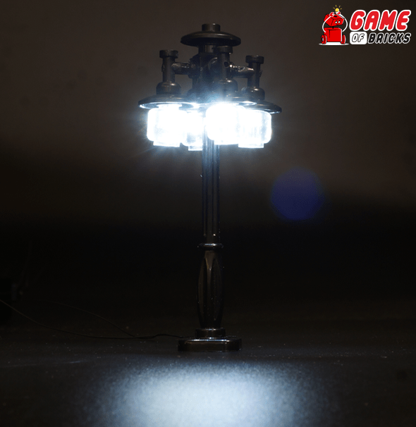 Black LED LEGO lamp post