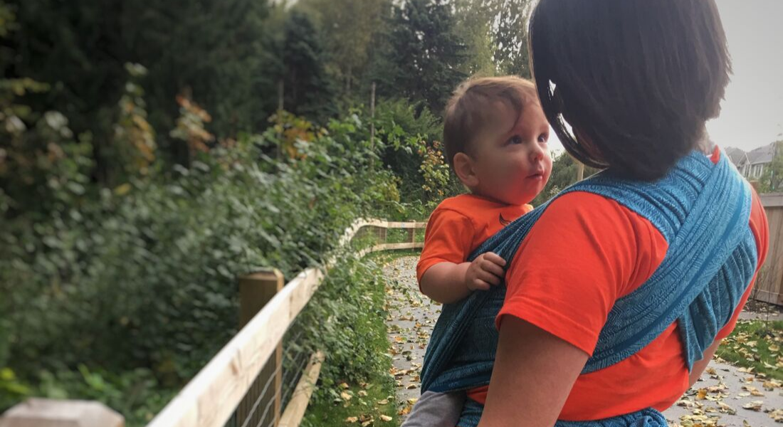 Orange Shirt Day Indigenous Babywearing Mother