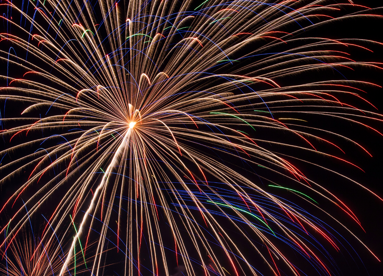 firework close up