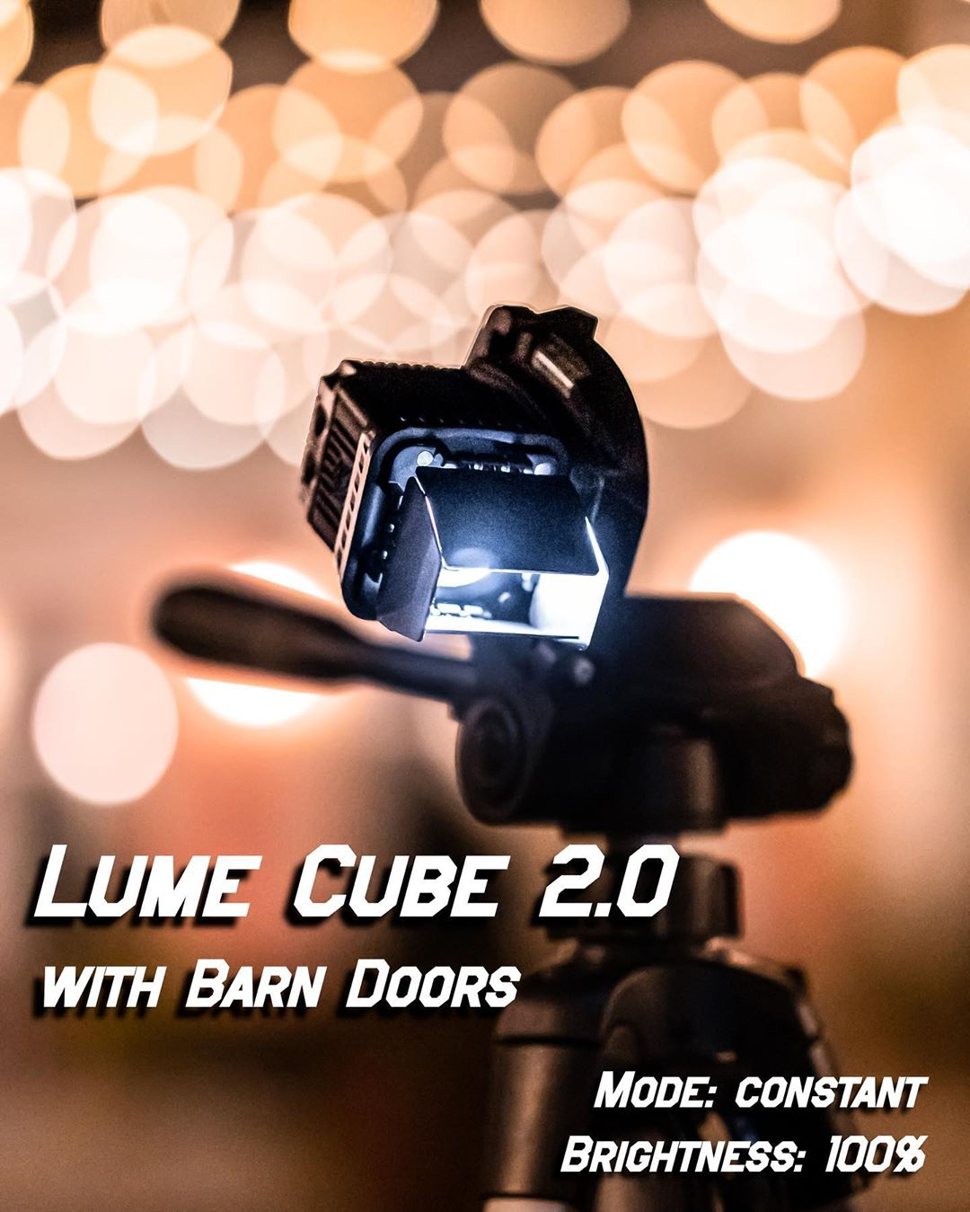 lume cube 2.0 with barn doors attached