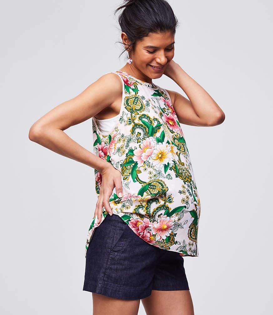 Loft Maternity Denim Shorts