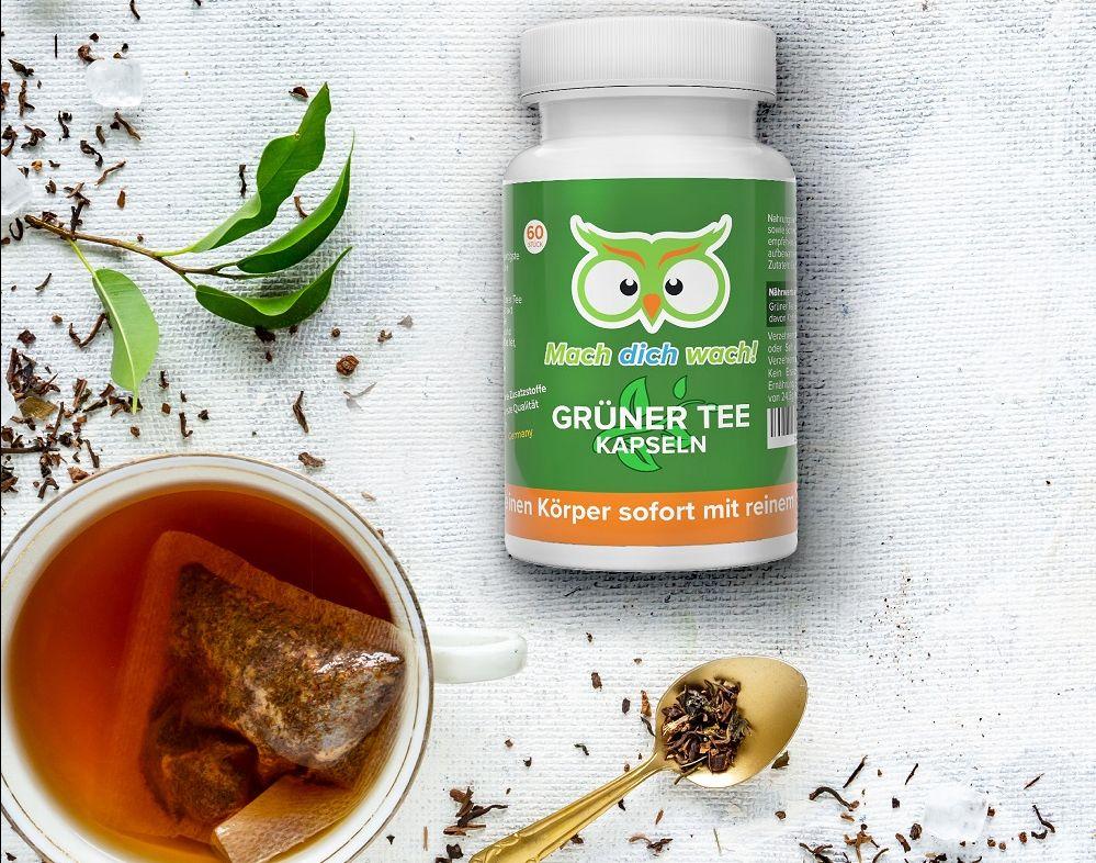 Grüner Tee Kapseln von Mach dich wach!