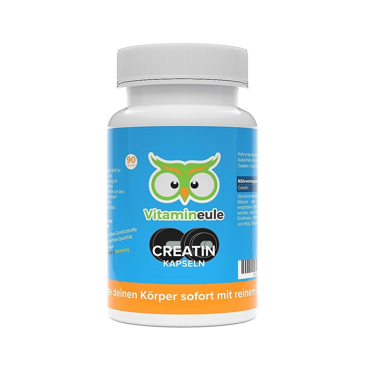 Creatin Kapseln von Vitamineule ohne Zusatzstoffe