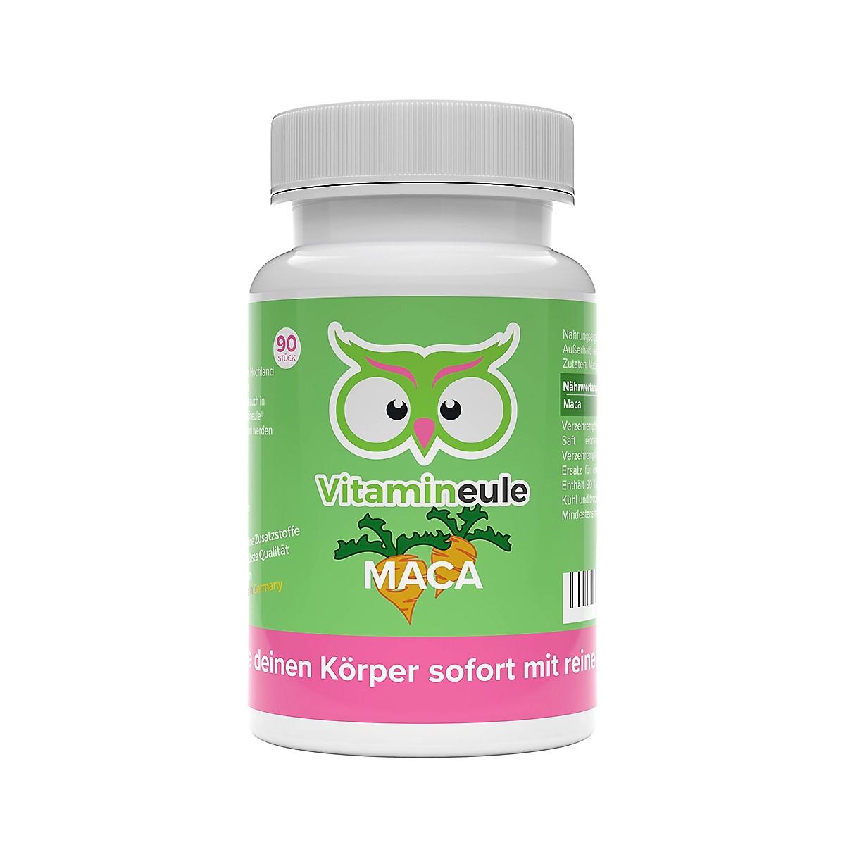 Maca Kapseln von Vitamineule ohne Zusatzstoffe
