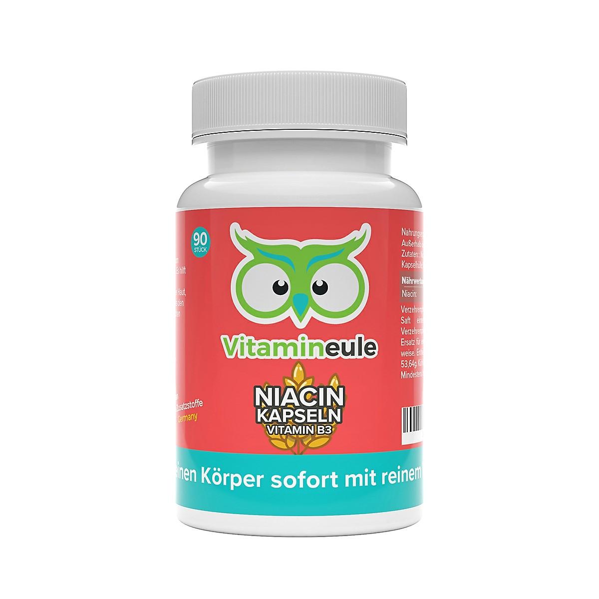 Niacin Kapseln von Vitamineule ohne Zusatzstoffe