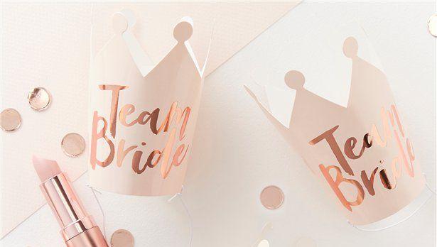 Rose Gold Team Bride Party Crowns I Hen Party Inspiration I Make Memento