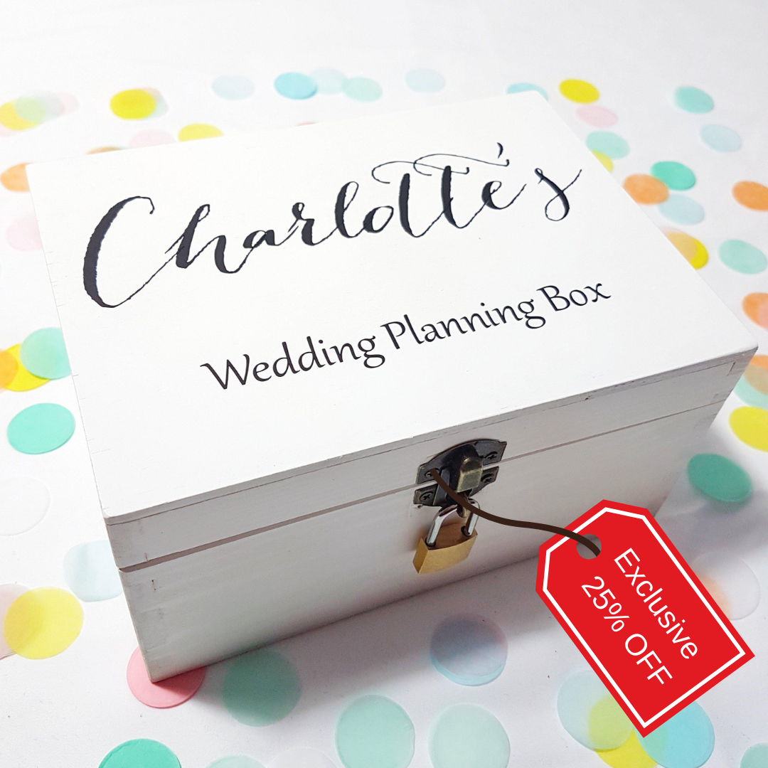 Personalised Wedding Planning Box