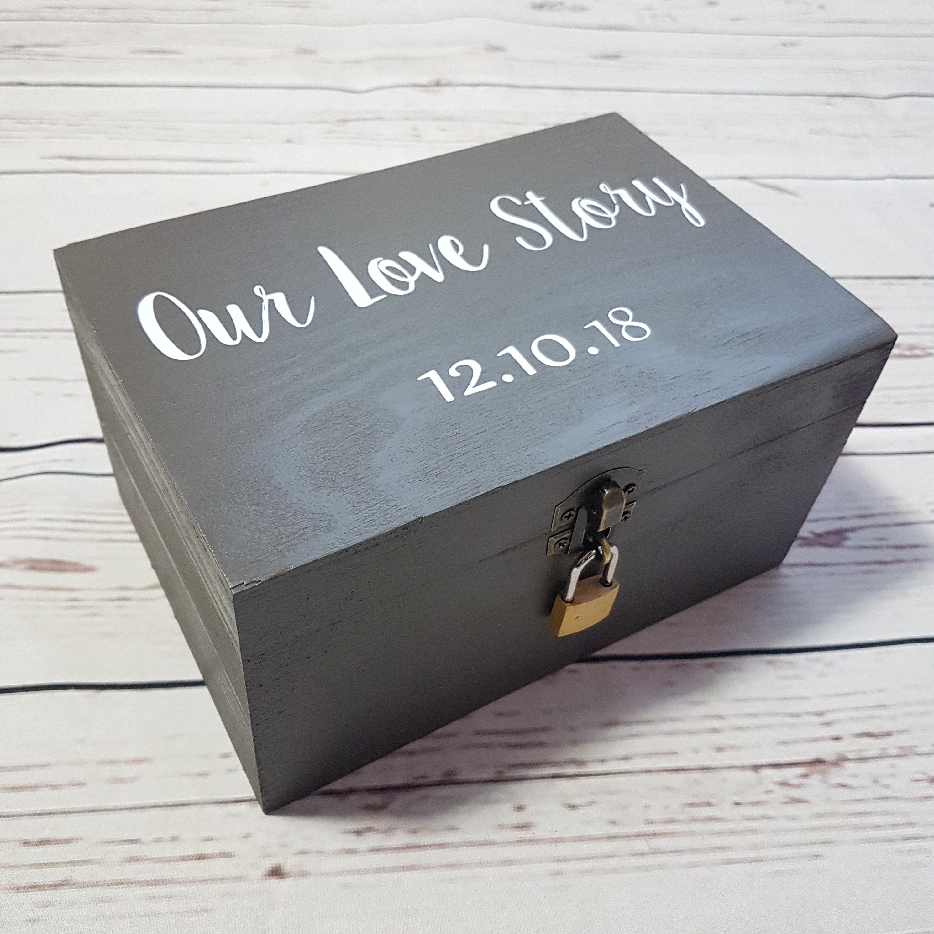 Our Love Story Memory Box I Personalised Anniversary Gift Ideas I Make Memento