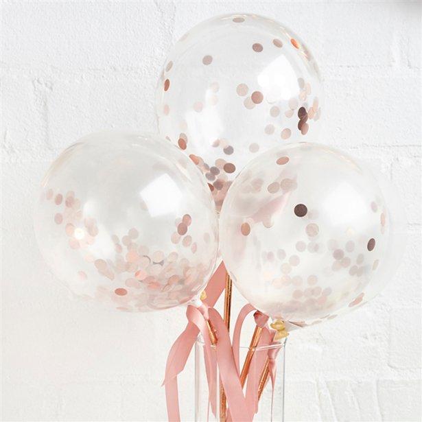 Rose Gold Mini Confetti Balloon Wands I Hen Party Inspiration I Make Memento
