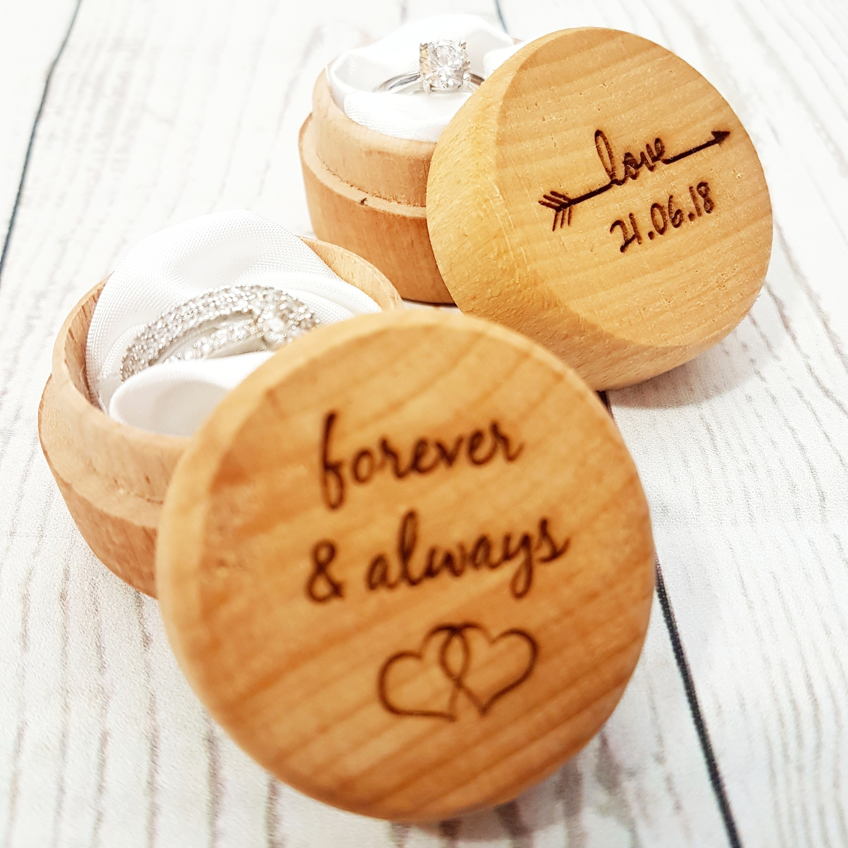 Forever & Always Ring Box I Personalised Anniversary Gift Ideas I Make Memento