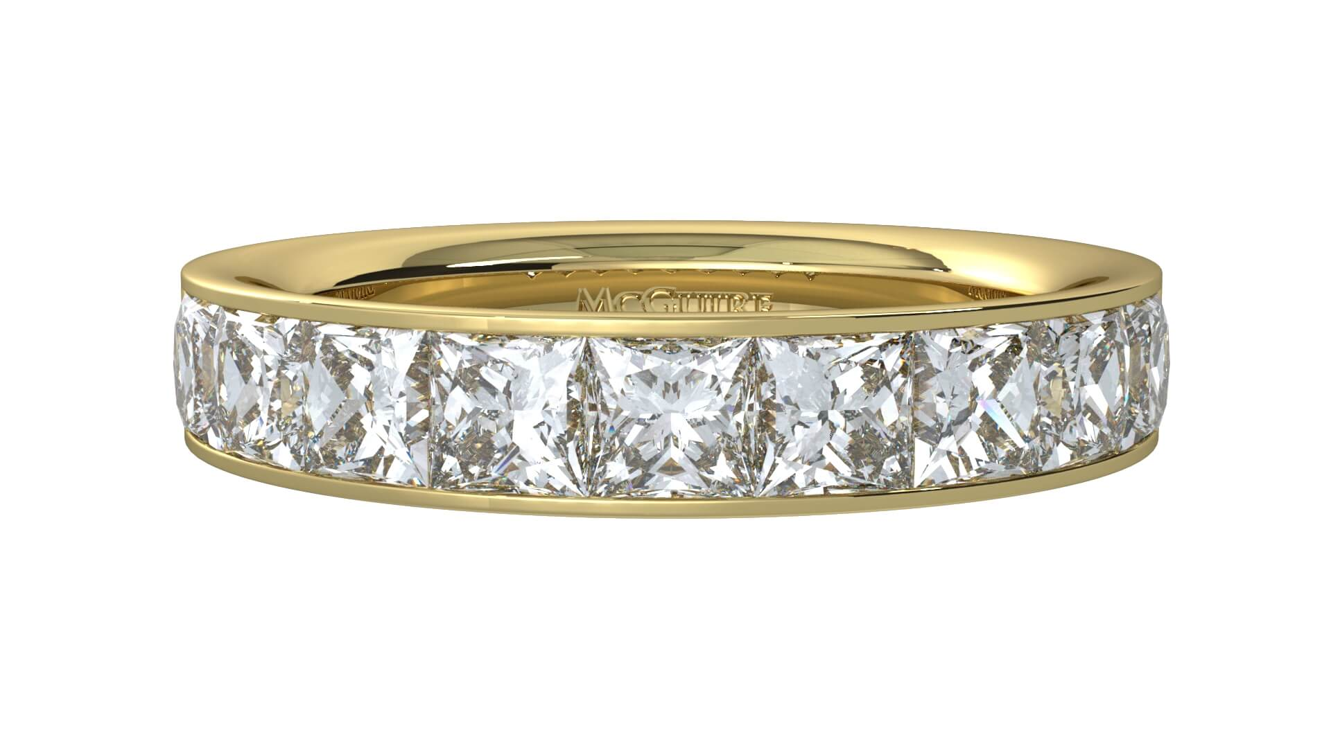 diamond set wedding ring in 18ct yellow gold