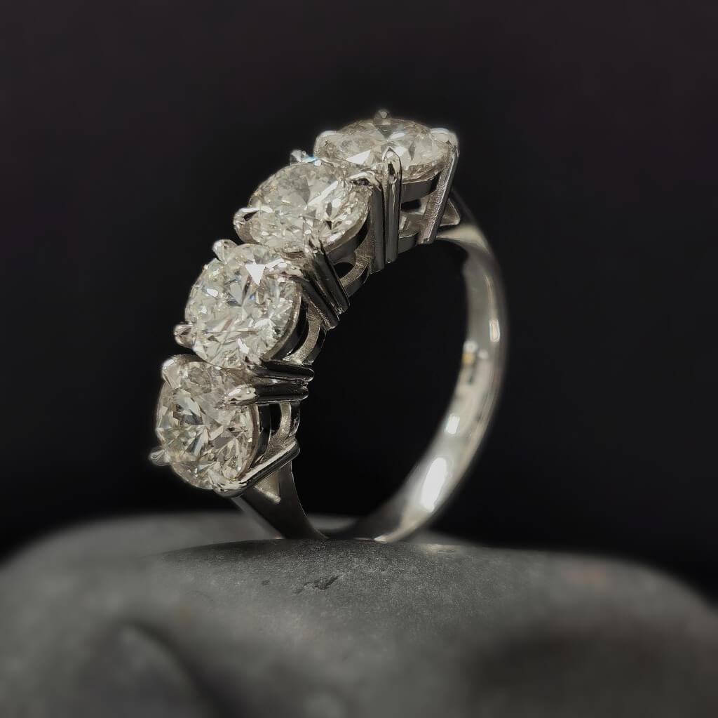 5 carat lab grown diamond eternity ring by mcguire diamonds