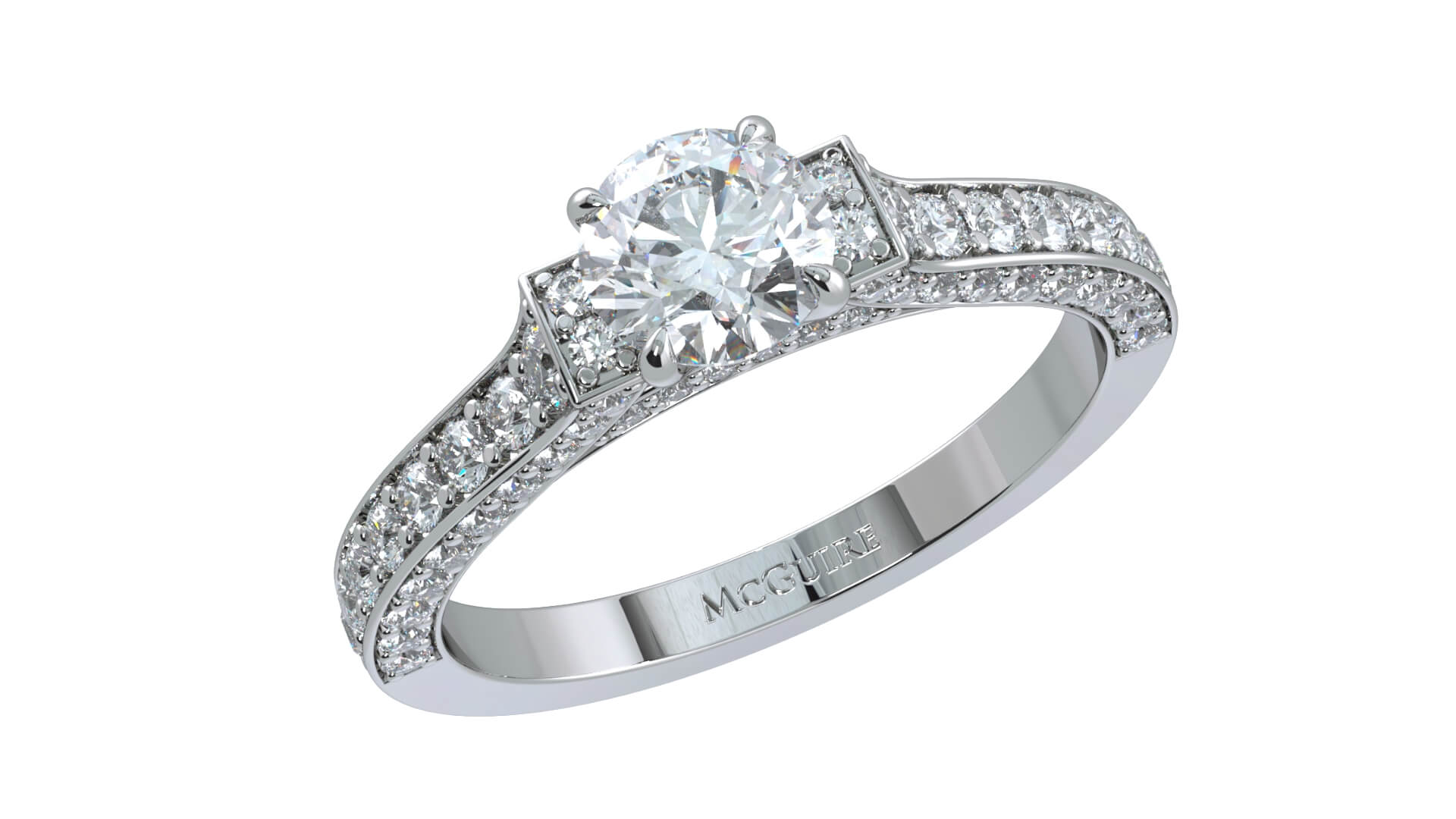 Constellation engagement ring by mcguire diamonds