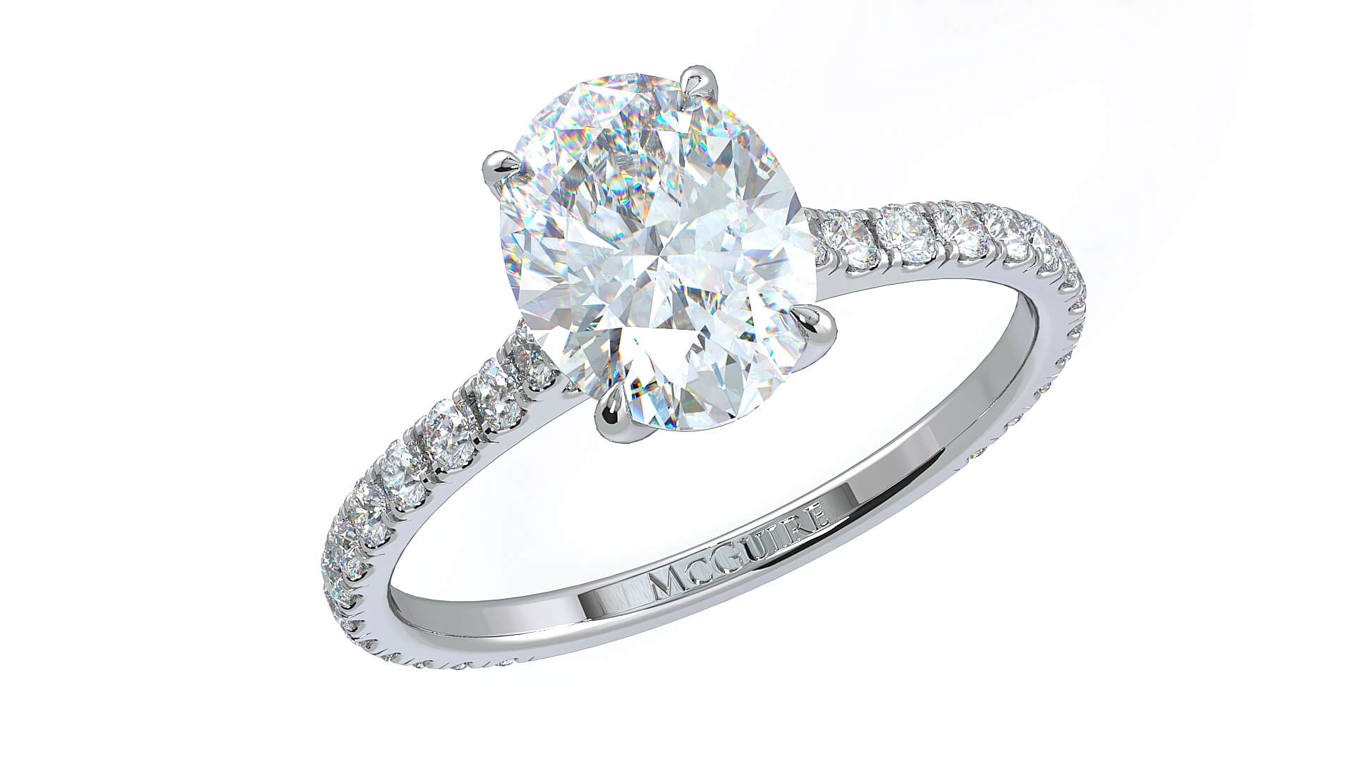 Oval diamond engagement ring by McGuire Diamonds