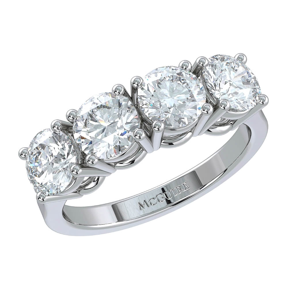Four stone eternity ring