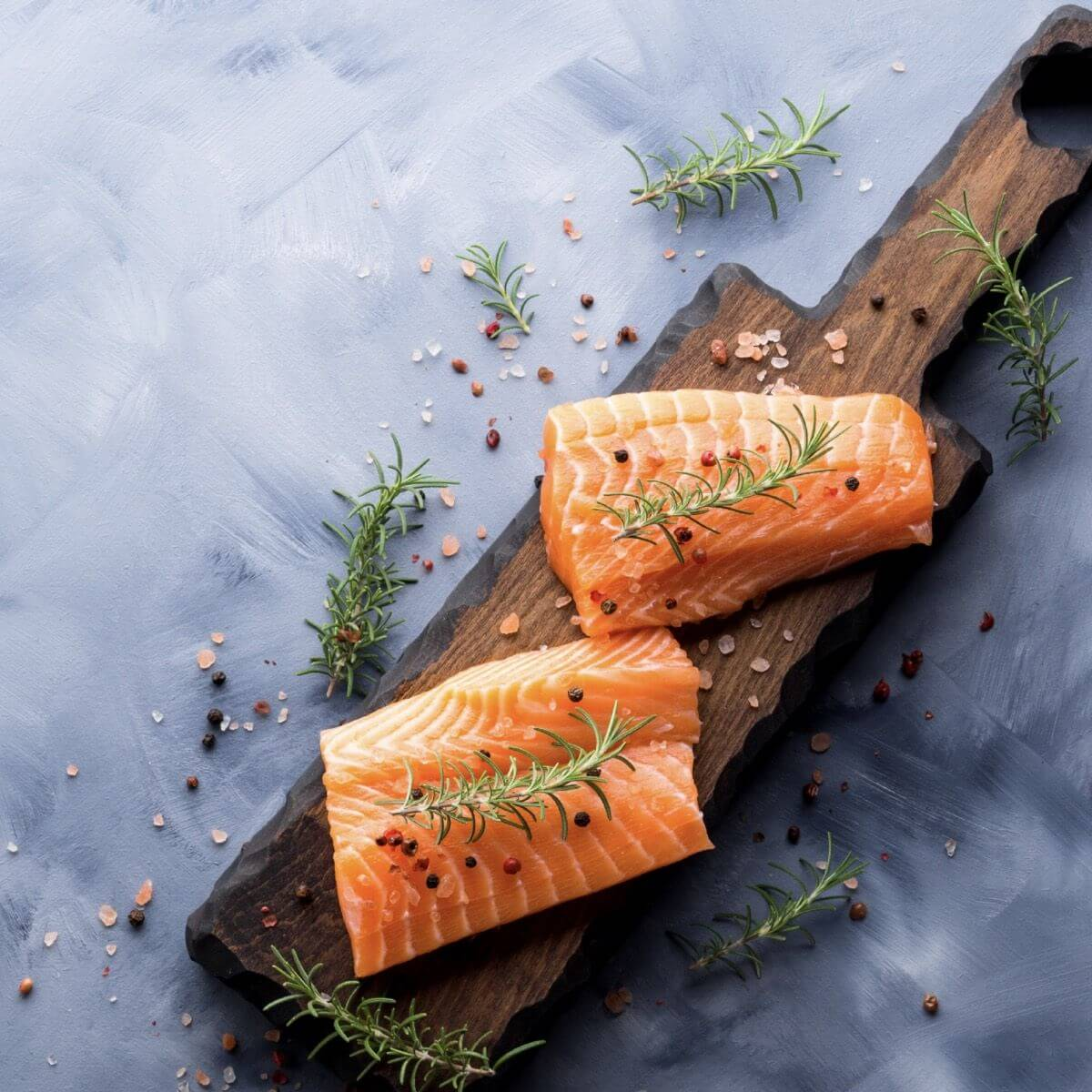 Omega-3s are found in cold water fish like salmon
