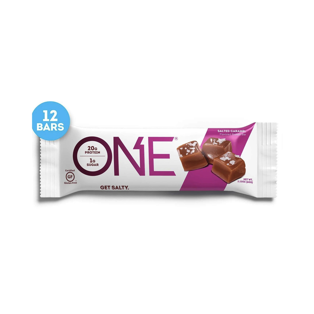 One salted caramel protein bars