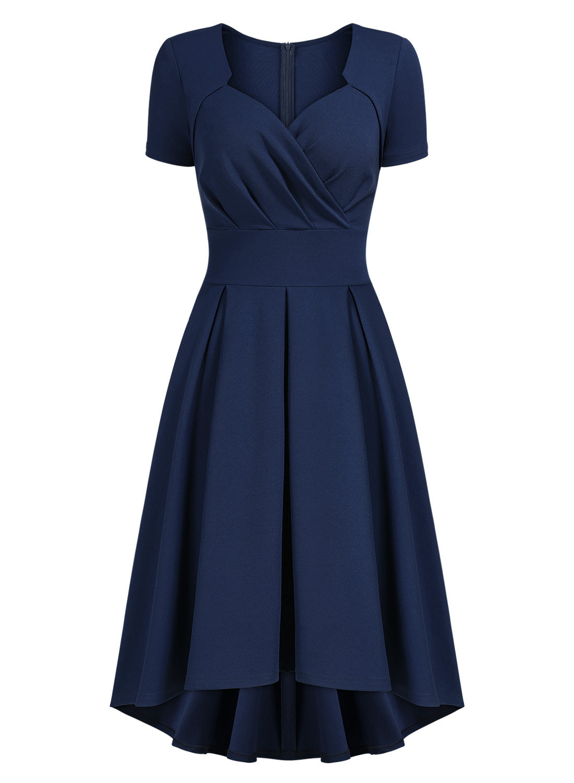 1950s Vintage Sweetheart Wrap Swing Dress