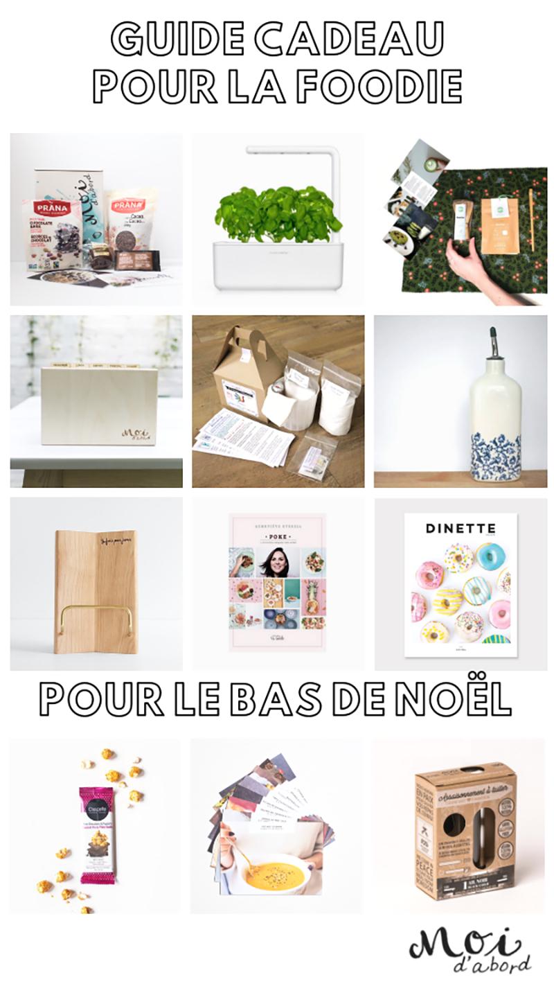 guide idées cadeau femme maman cuisine foodie fait au Québec local