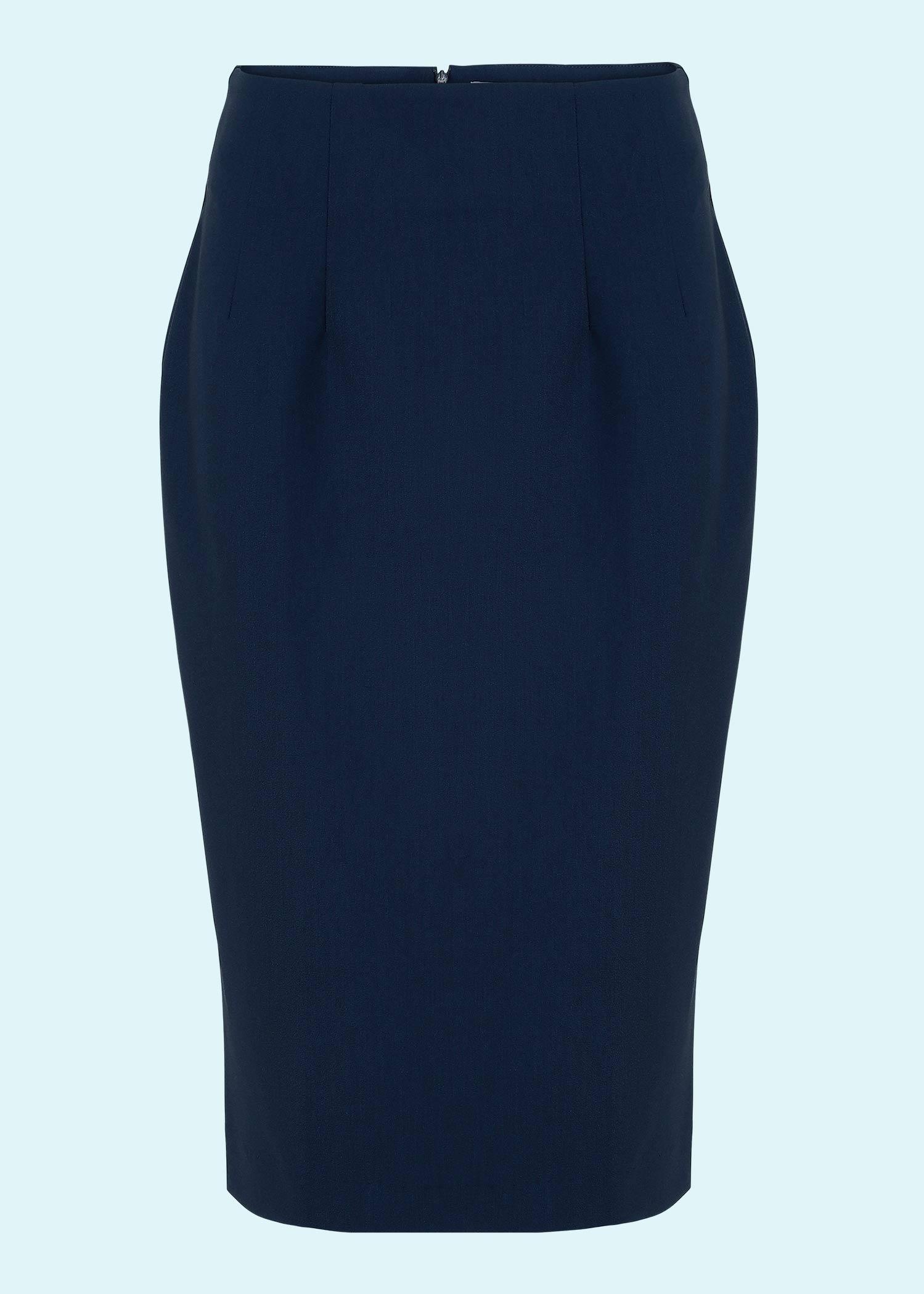 Klassisk navy blå pencil nederdel fra Daisy Dapper