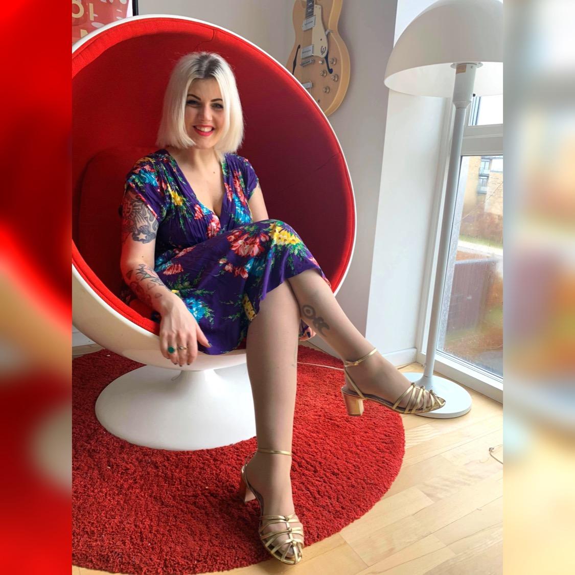 40s kjolen fra Trashy Diva i blomster print
