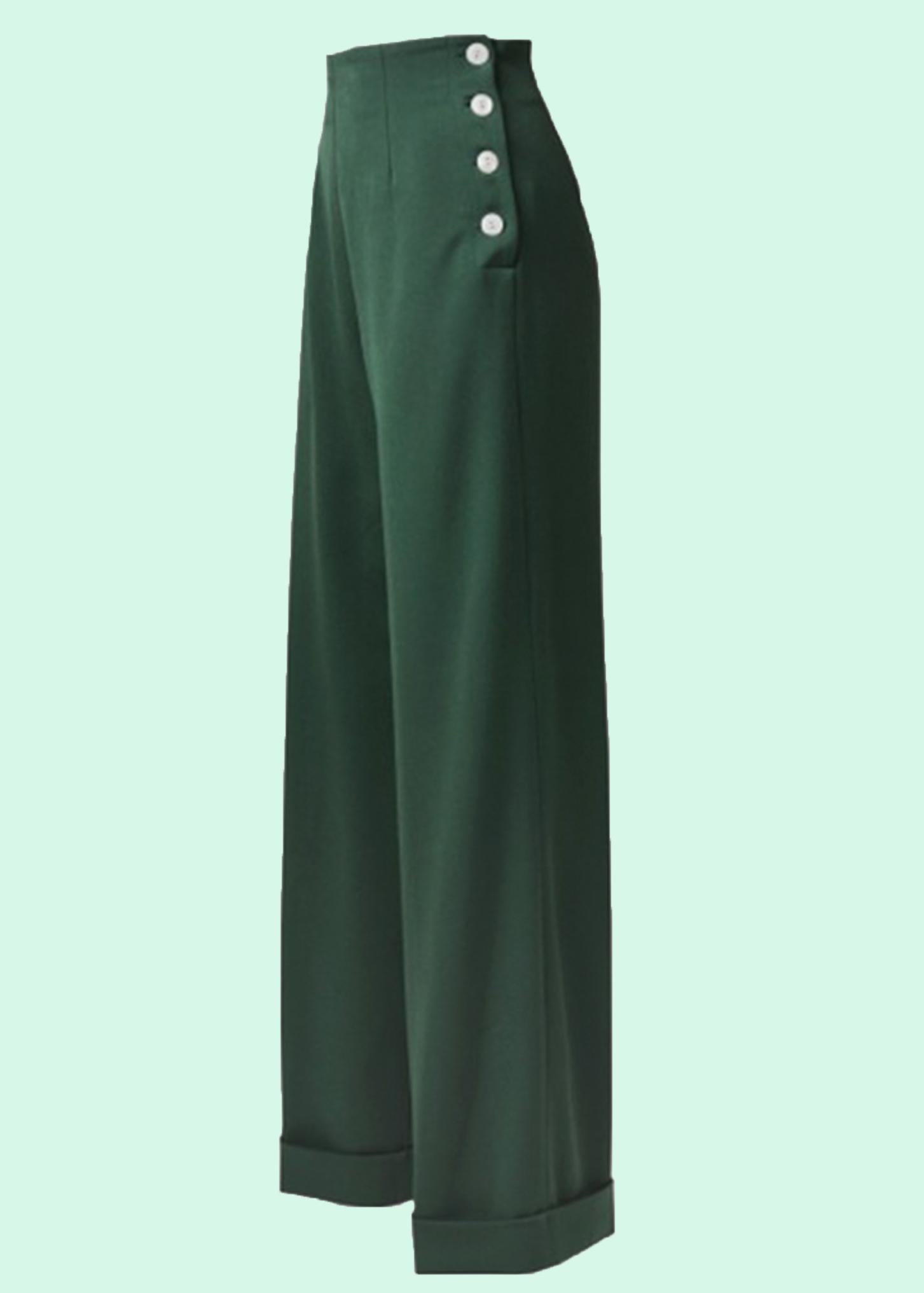 1940'er stils bukser med brede ben fra The House Of Foxy