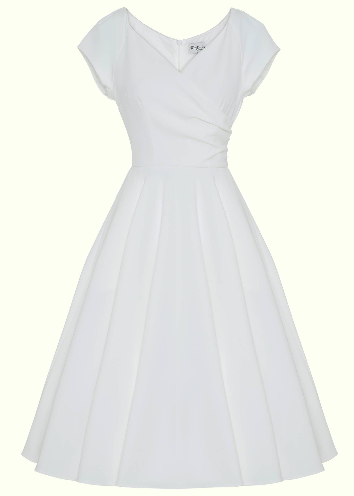 Vintage 50er stils brude kjole med stort skørt fra Pretty Dress Company