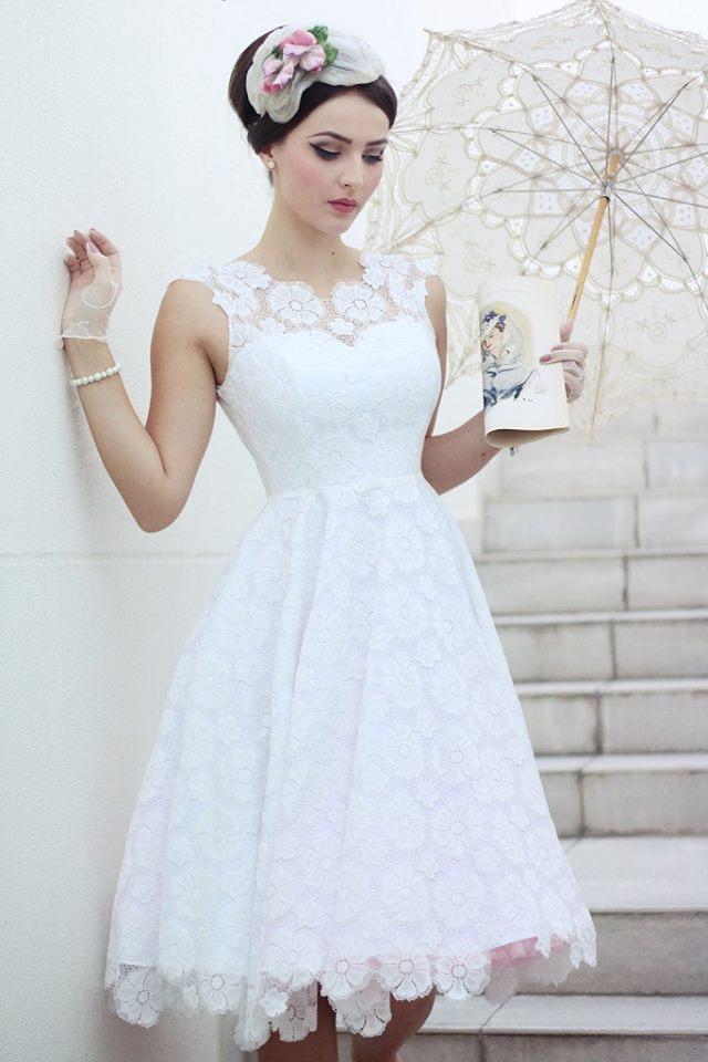 Brudekjoler i 50er vintage stil med blonder fra Daisy Dapper