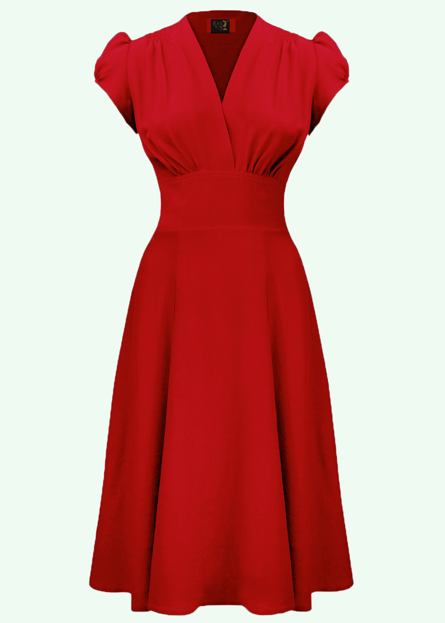 Ava 1940s dress from The House Of Foxy in red
