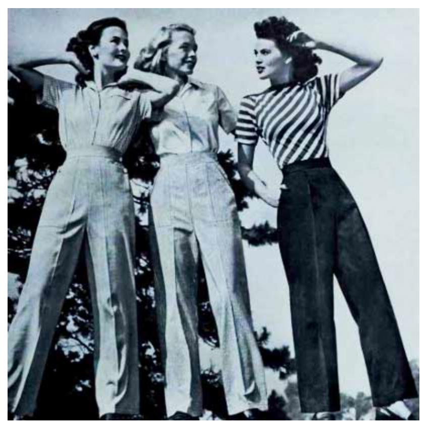Find dine 40'er inspirerede bukser hos Mondo Kaos