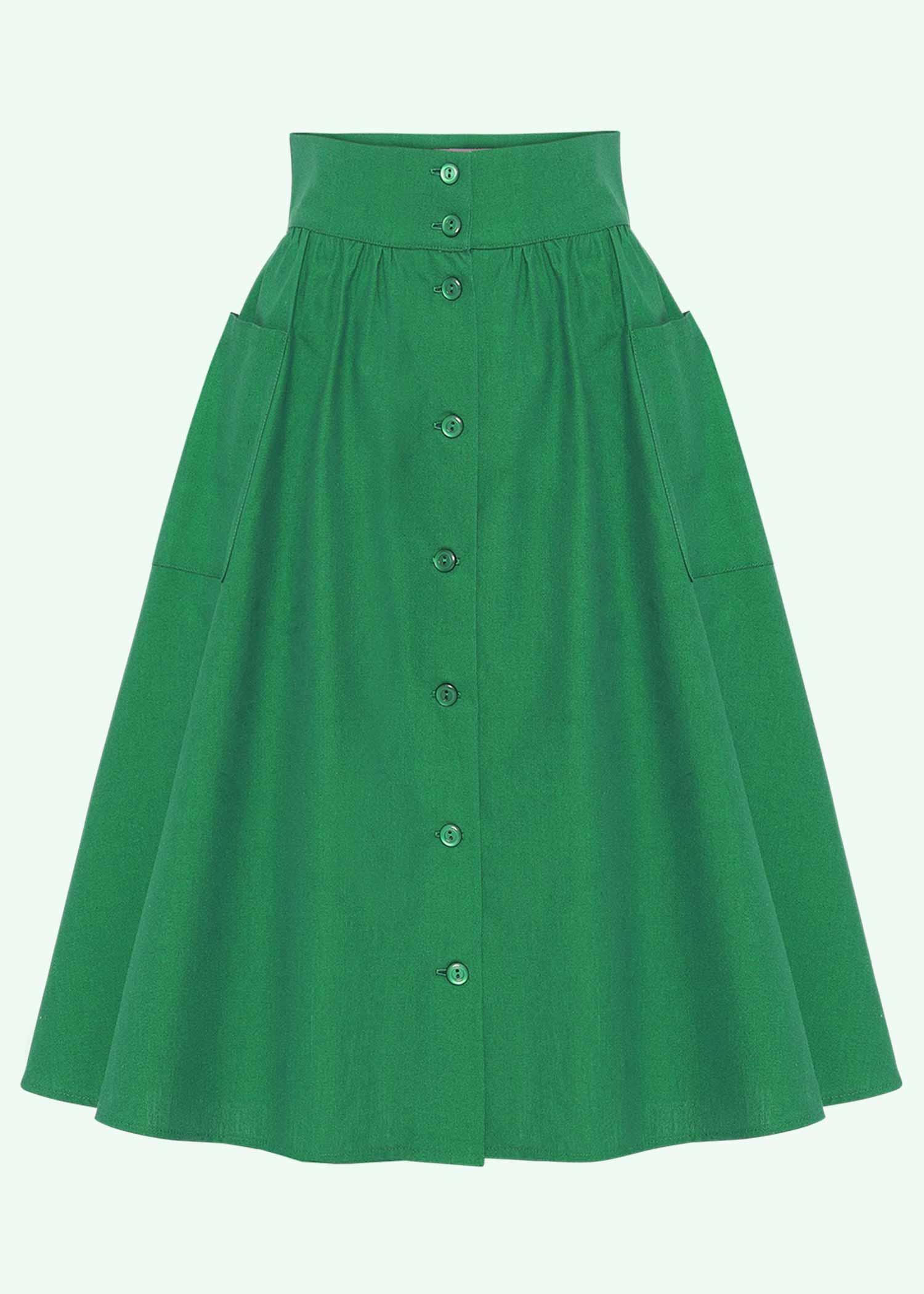 50s inspired skirt in green from Heart Of Haute