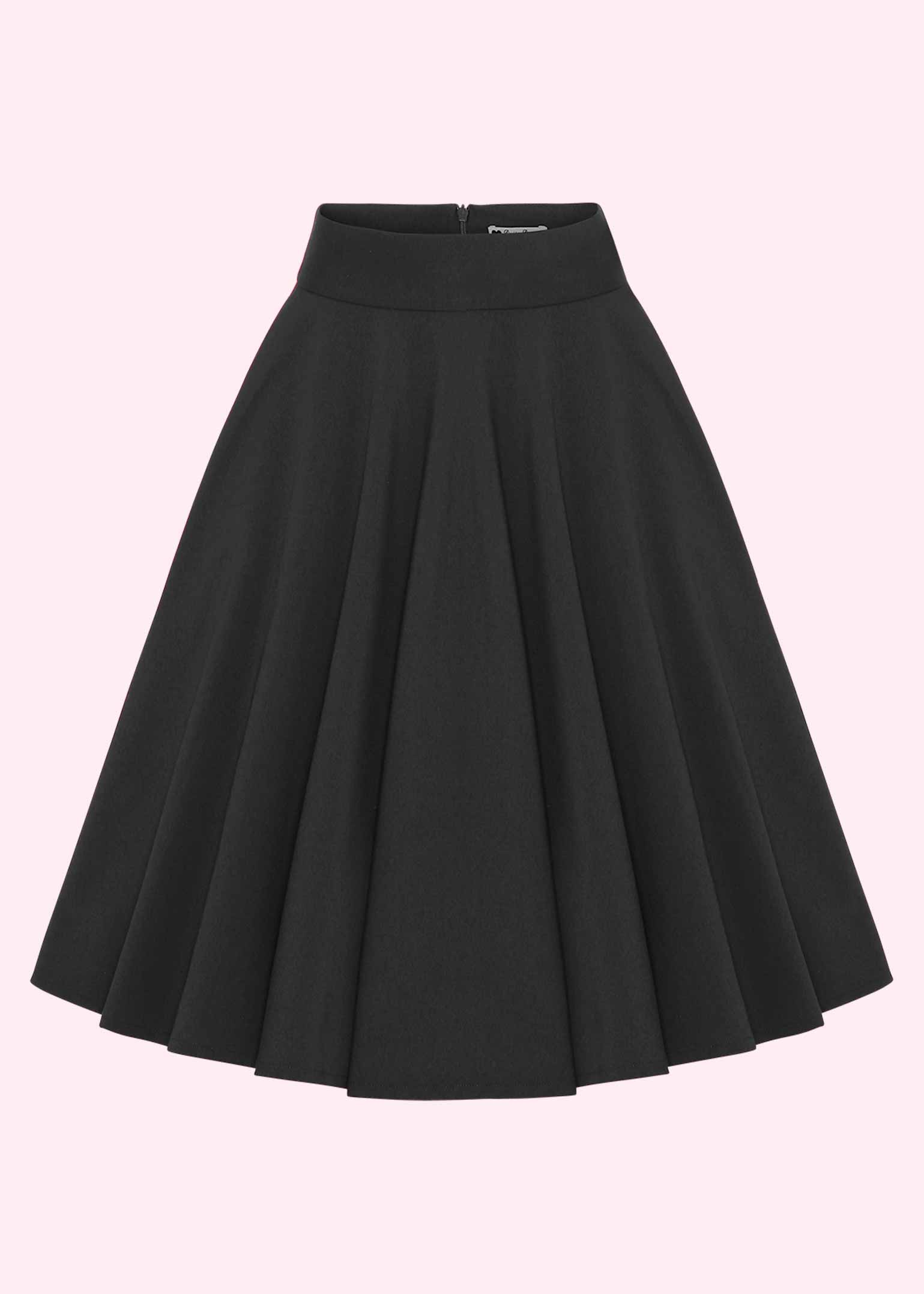 Classic black swing skirt in 50s style from Daisy Dapper