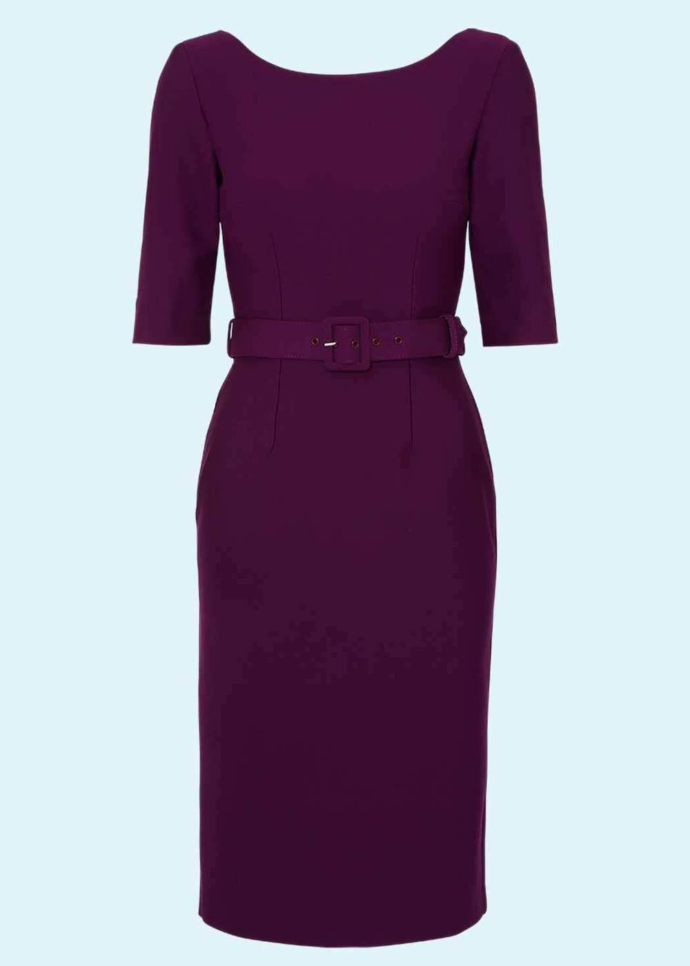 Margot dress in aubergine from Zoe Vine