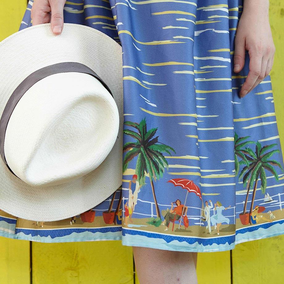 Palava retro kjole med print