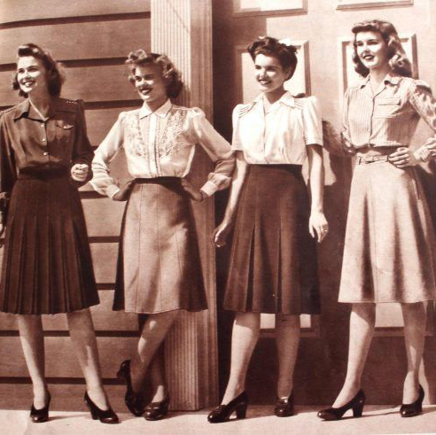 Blog post about the history of fashion 1940s