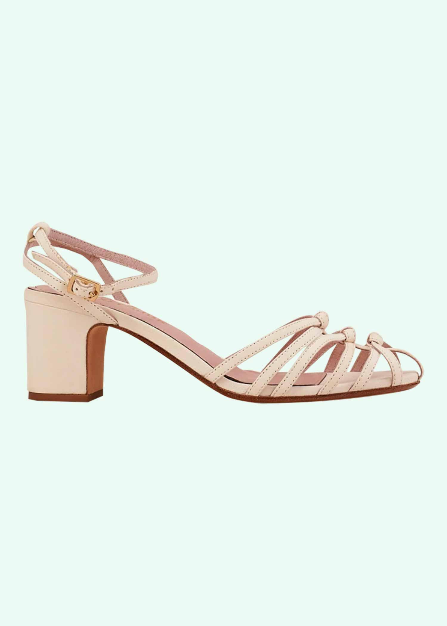 Hvide retro sandaler