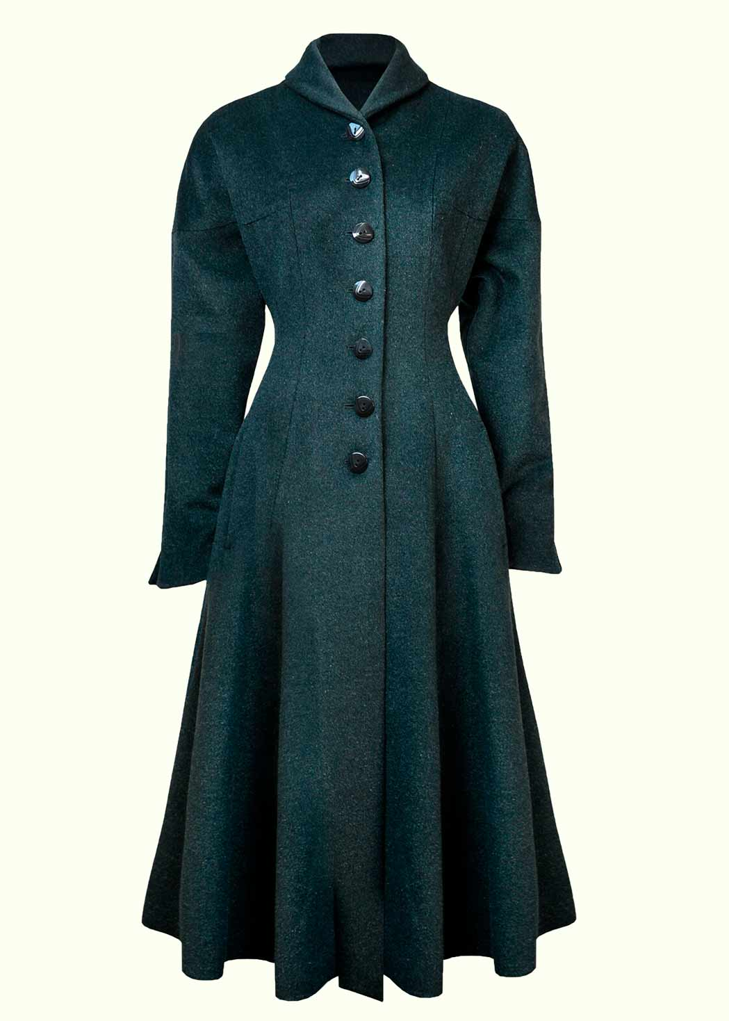 Vintage style swing coat from The House Of Foxy