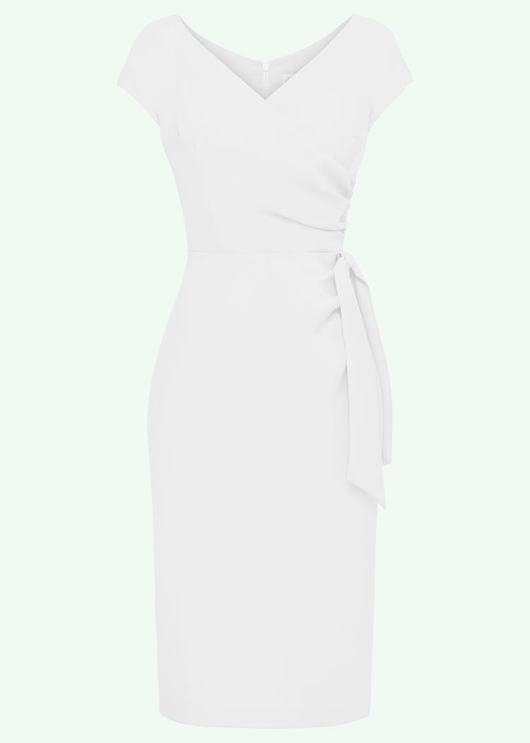 Hvid 50er vintage inspireret figursyet brude kjole fra Pretty Dress Company