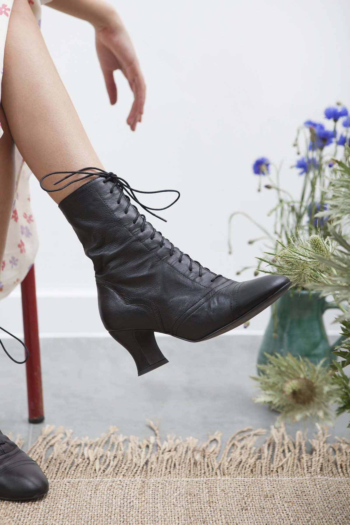 Miss L Fire Vintage boot in black leather