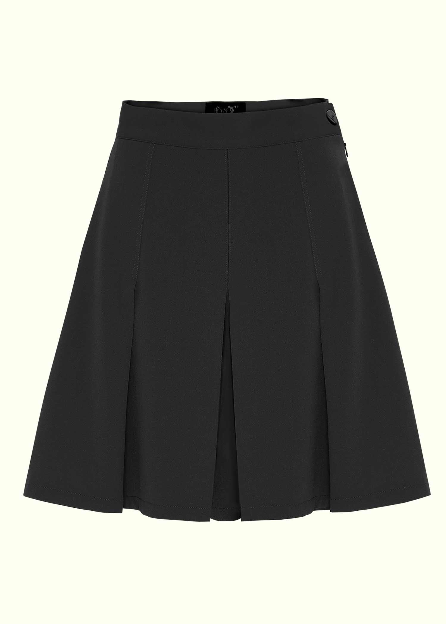 Flisserede sorte shorts i 40er vintage stil fra House Of Foxy
