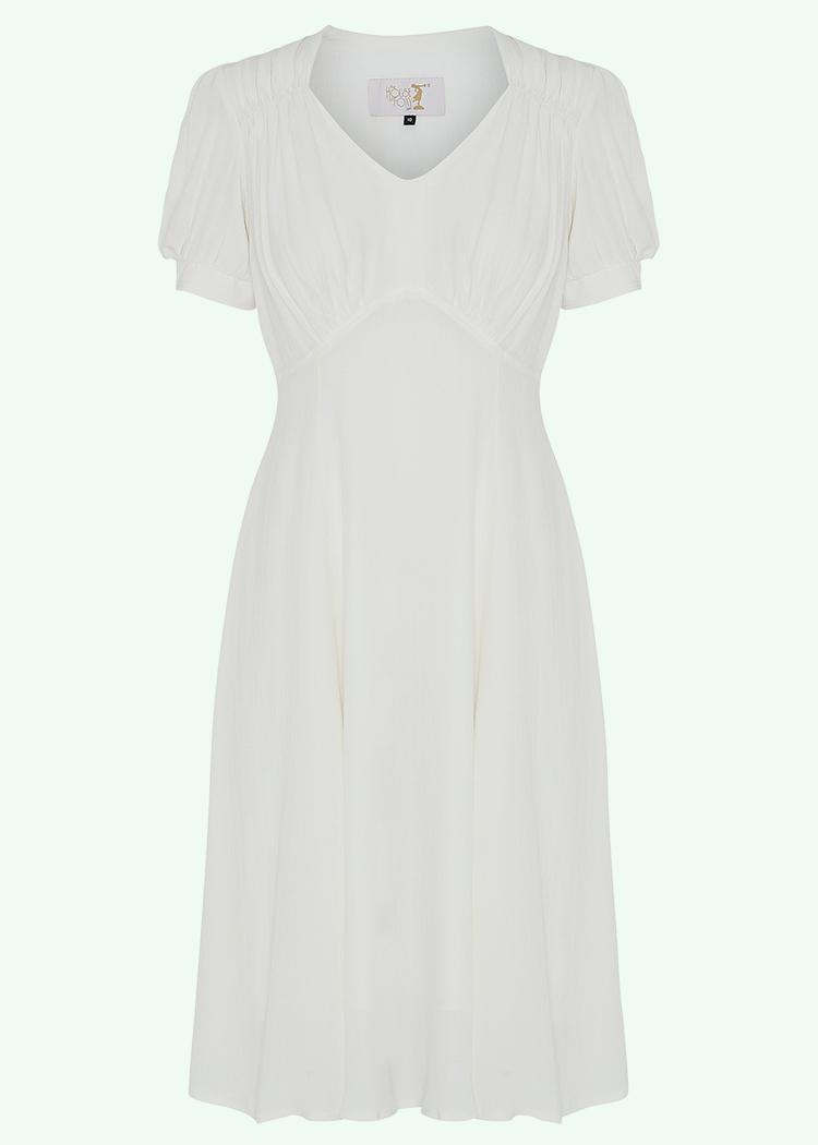 Hvid 40er vintage inspireret brude kjole fra House Of Foxy
