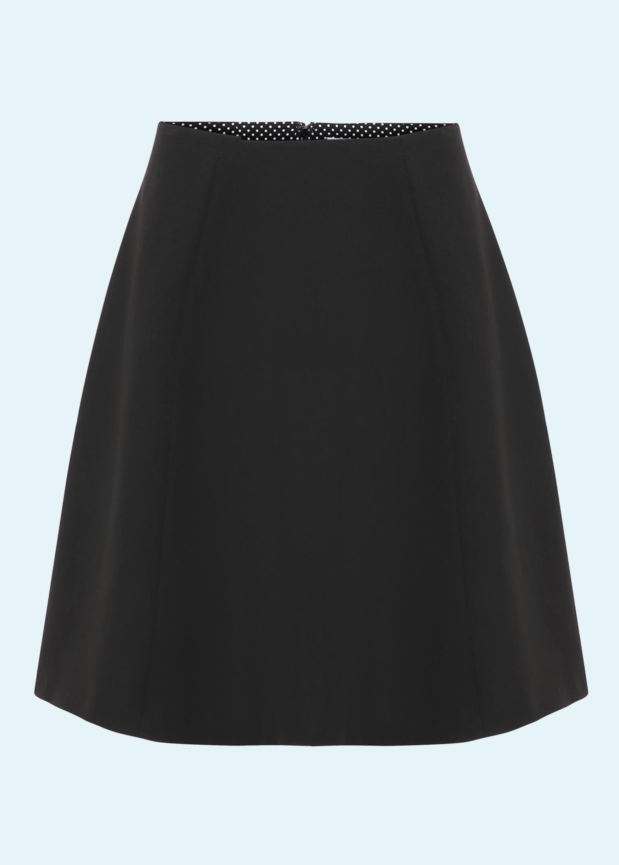 60'er mini skirt i sort bengaline fra Grünten Mode