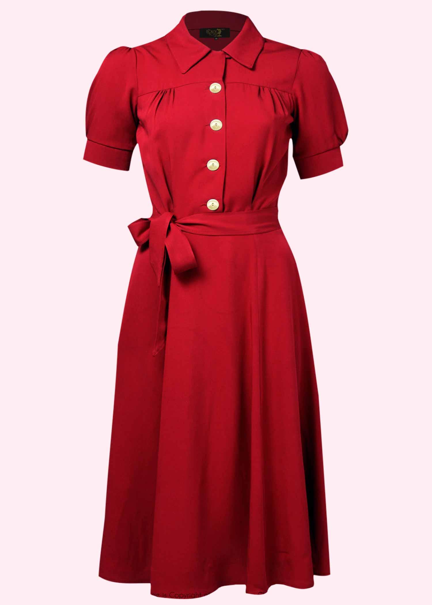 Rød skjortekjole fra House Of Foxy