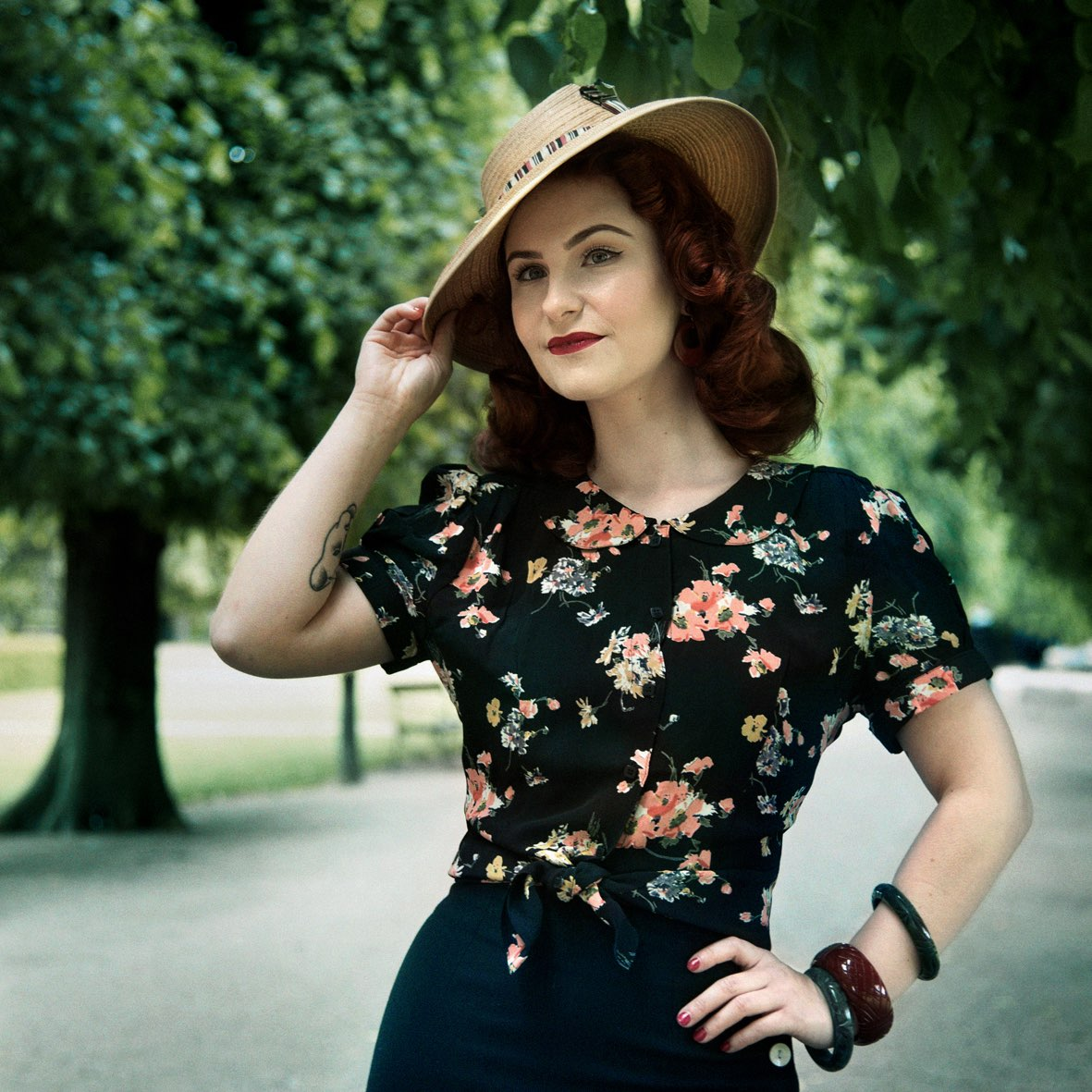 Beautiful shirt top in vintage style from The Seamstress Of Bloomsbury