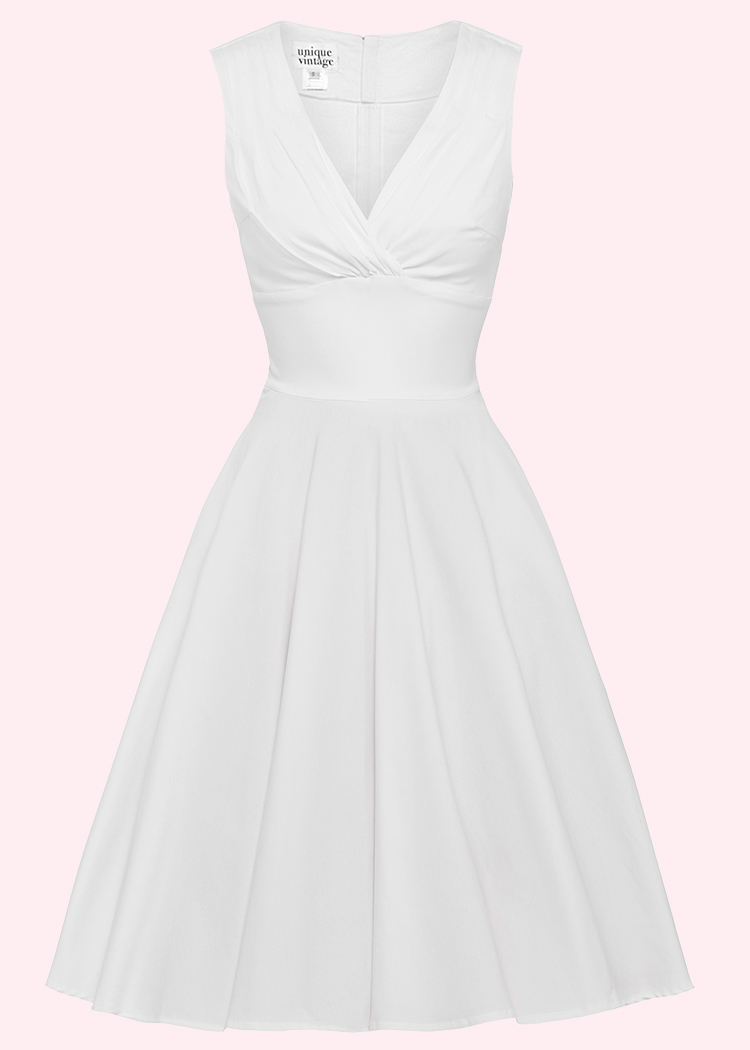 Vintage wedding dress with swing skirt