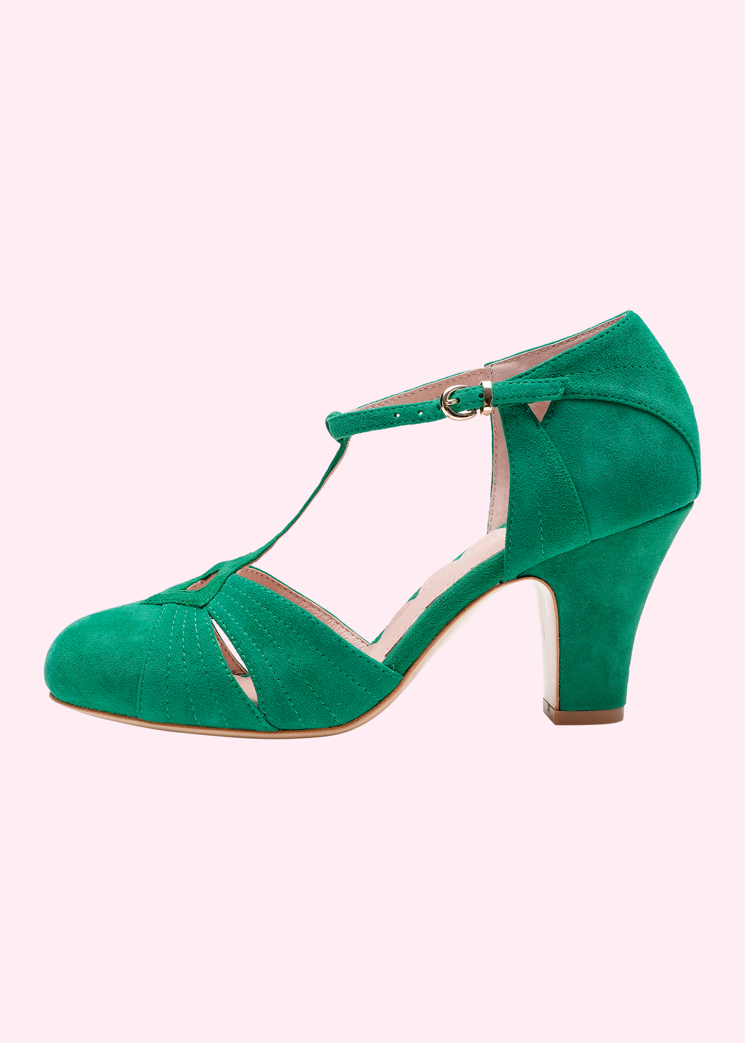 Green vintage Danish shoes in suede from Miss L Fire
